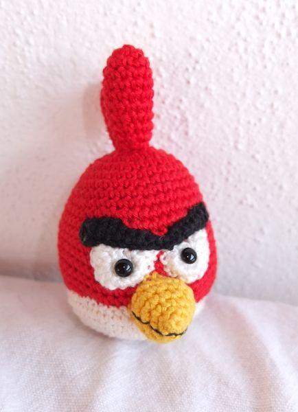 Angry Bird Gehäkelt Häkeln Crocheted Crochet Pattern