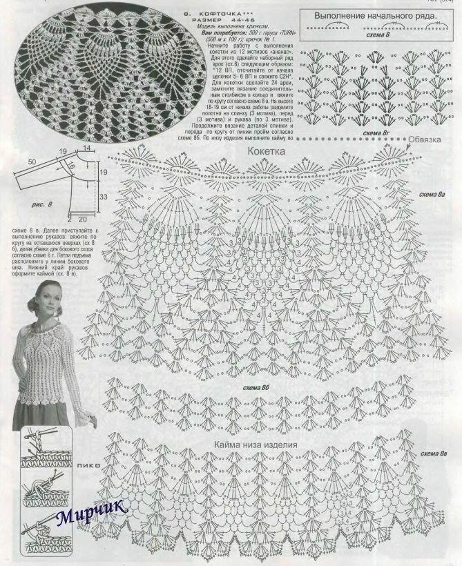 Modelo de esquema de ganchillo piña   corcel   Pinterest   Crochet ...