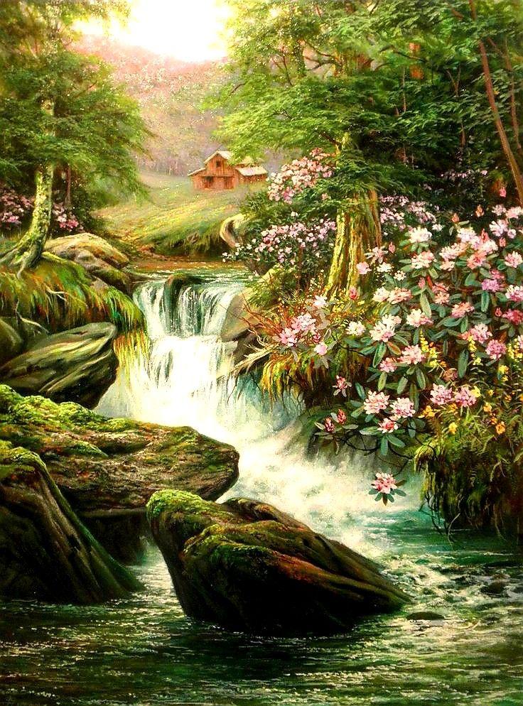 Ide oleh SanRiTa pada Paintings Pemandangan, Seni, Karya