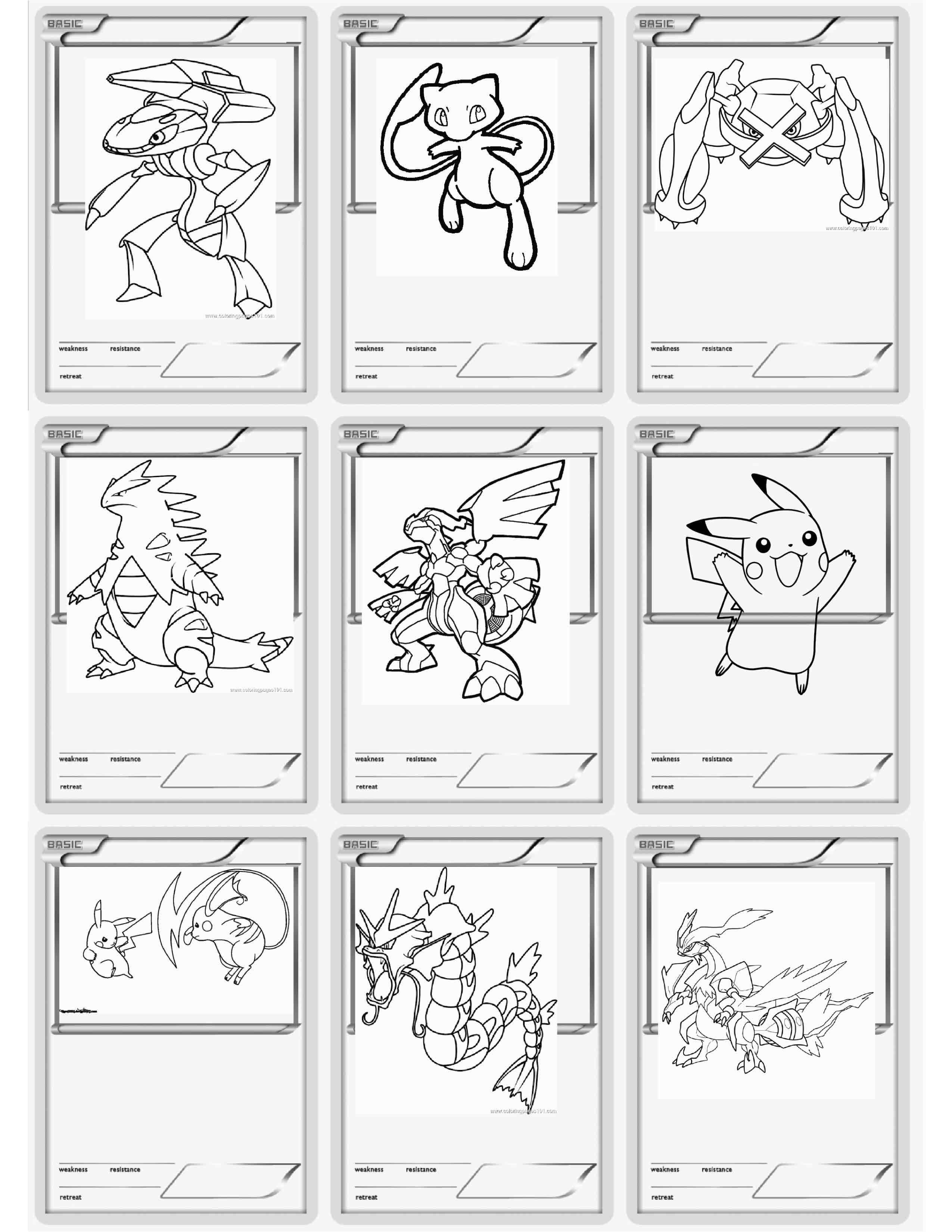 Free Pokemon Card Coloring Pages Amazing Design