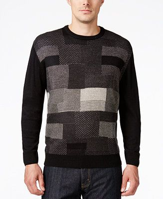 Weatherproof Men's Big and Tall Textured Sweater, Classic Fit - Sweaters - Men - Macy's