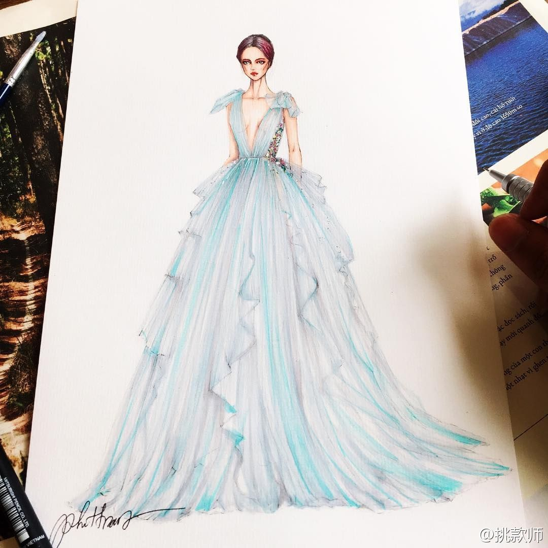 Design  Vestidos giros  Pinterest  Fashion illustrations Fashion