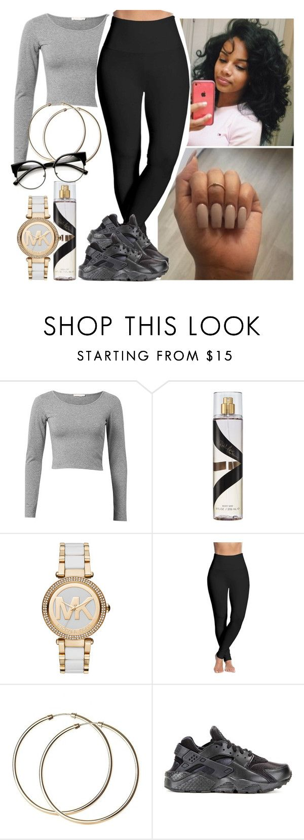 """""""School-Wednesday , forgot to post 😩"""" by saucinonyou999 ❤ liked on Polyvore featuring OPTIONS, MICHAEL Michael Kors, Lyssé Leggings and NIKE"""