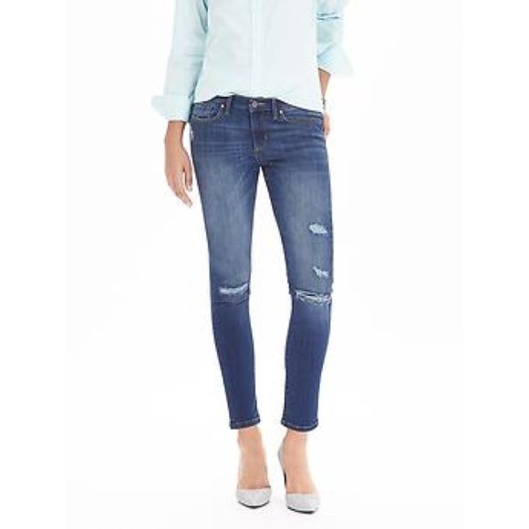 """Distressed Jeans EUC, worn a handful of times, no flaws. """"Skinny ankle"""". Final price ! Banana Republic Jeans Skinny"""