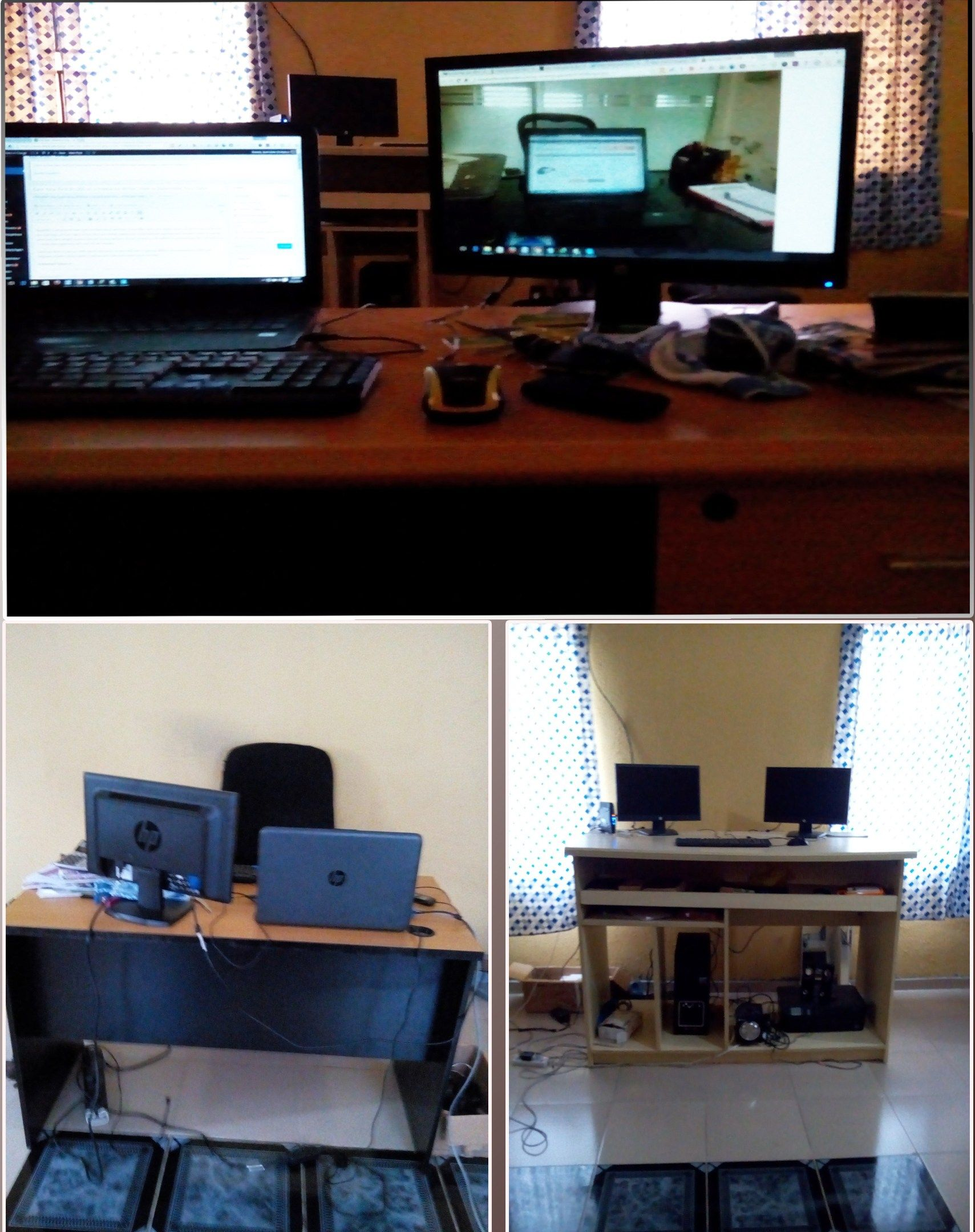 The office of the renowned freelance writer bamidele onibalusi from