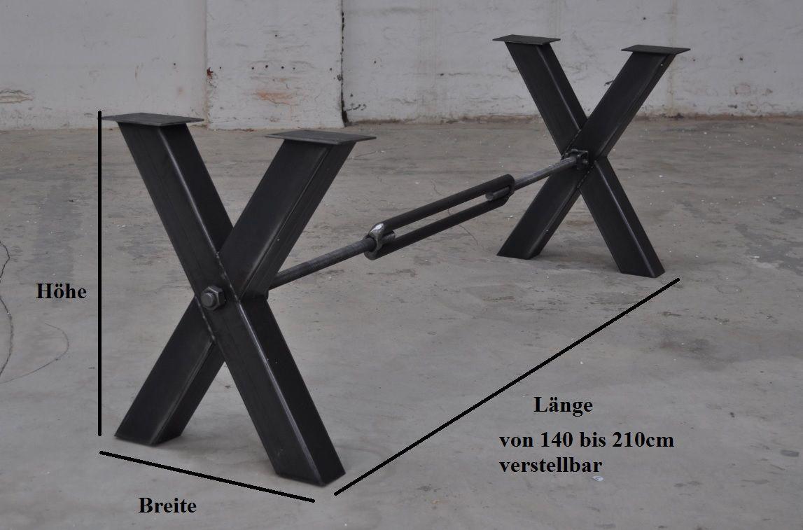 brace stahl tischgestell kreuz mit strebe tisch. Black Bedroom Furniture Sets. Home Design Ideas