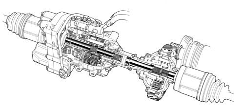 Automotive illustration. Cutaway, ghosted, phantom, and