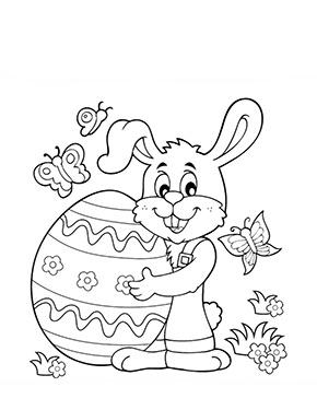 ausmalbild osterhase mit grossem ei zum ausmalen. ausmalbilder   malvorlagen   ostern  