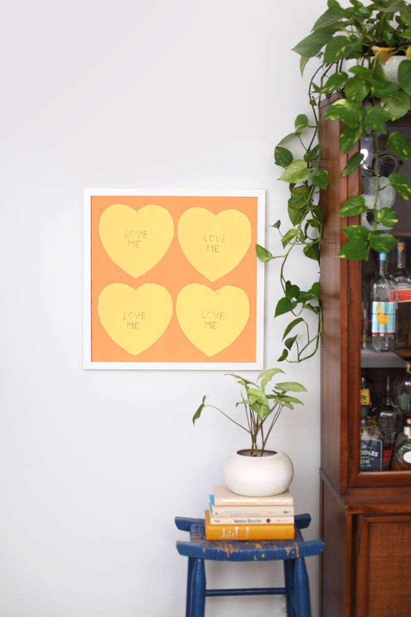 Learn how to screen print your own Andy Warhol inspired heart print ...