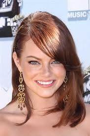 Emma Stone w side bangs