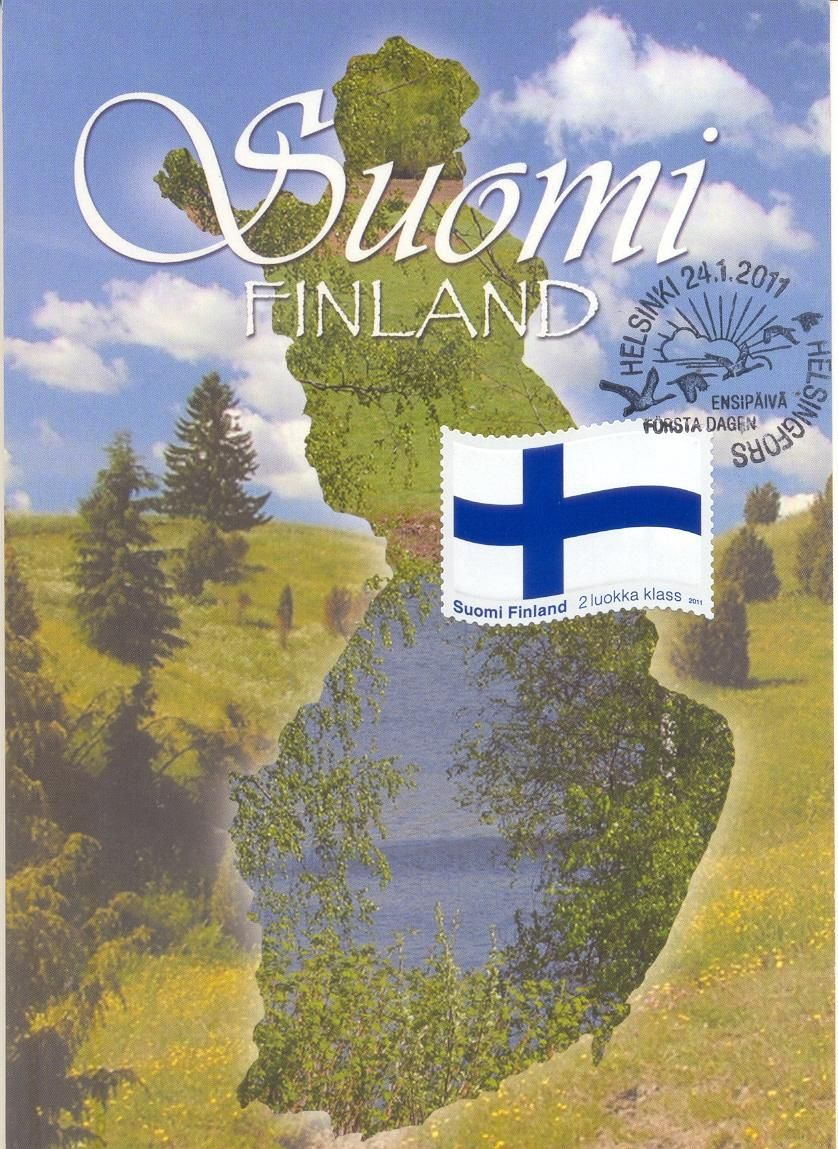 Lets Talk Stamps: Finland – The Finnish flag