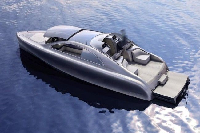Mercedes-Benz Arrow 460 Yacht. A refined sea-going Mercedes. Sigh...