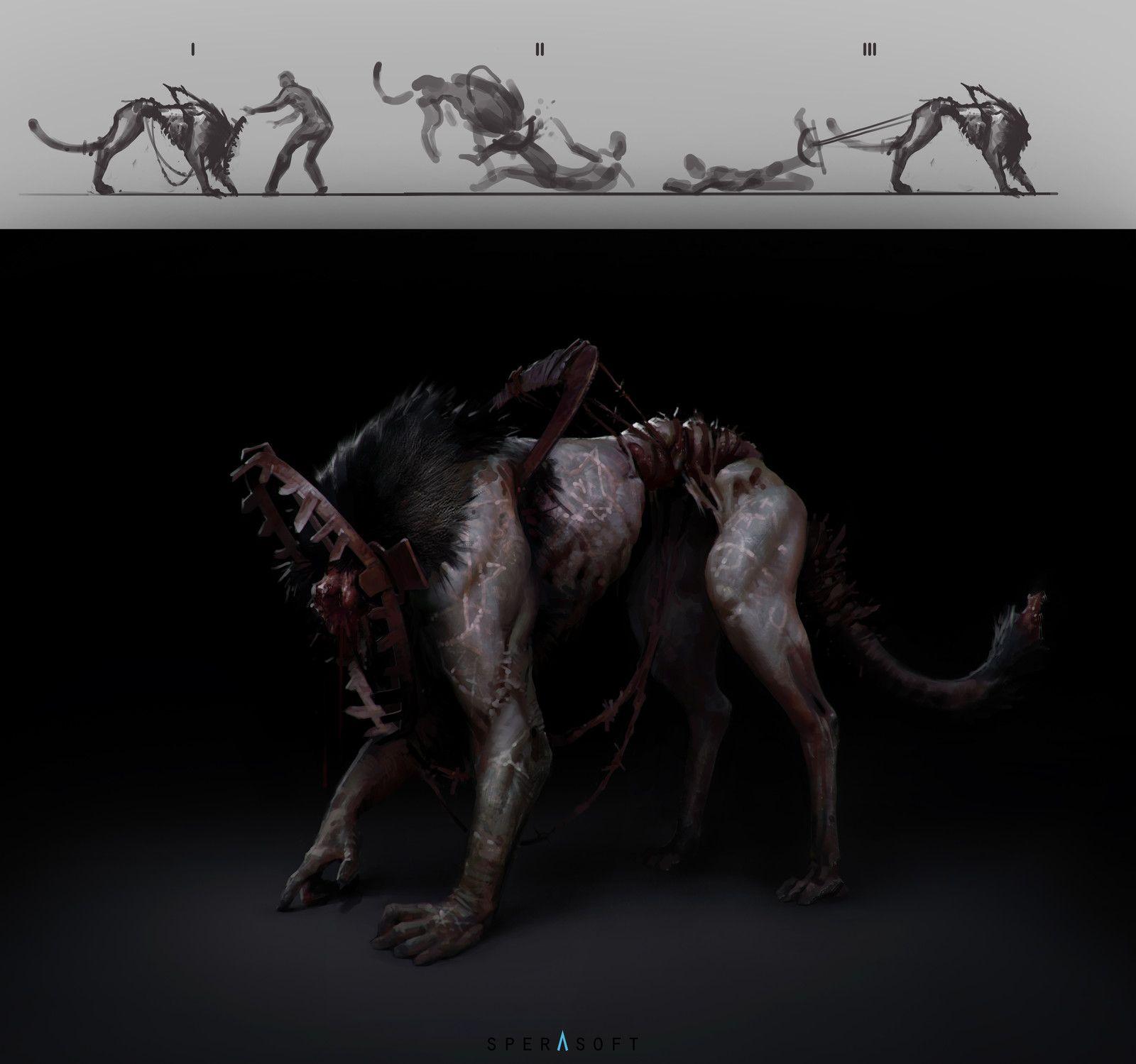 Hell hound 02, Sperasoft Studio on ArtStation at https://www.artstation.com/artwork/lLWPY