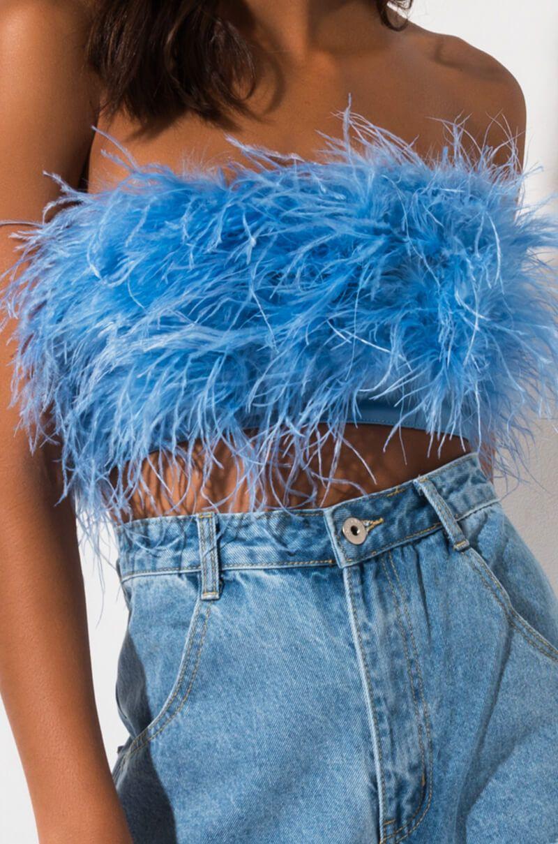 Fun Times Feather Top Fashion Aesthetic Fashion Fashion Inspo Outfits