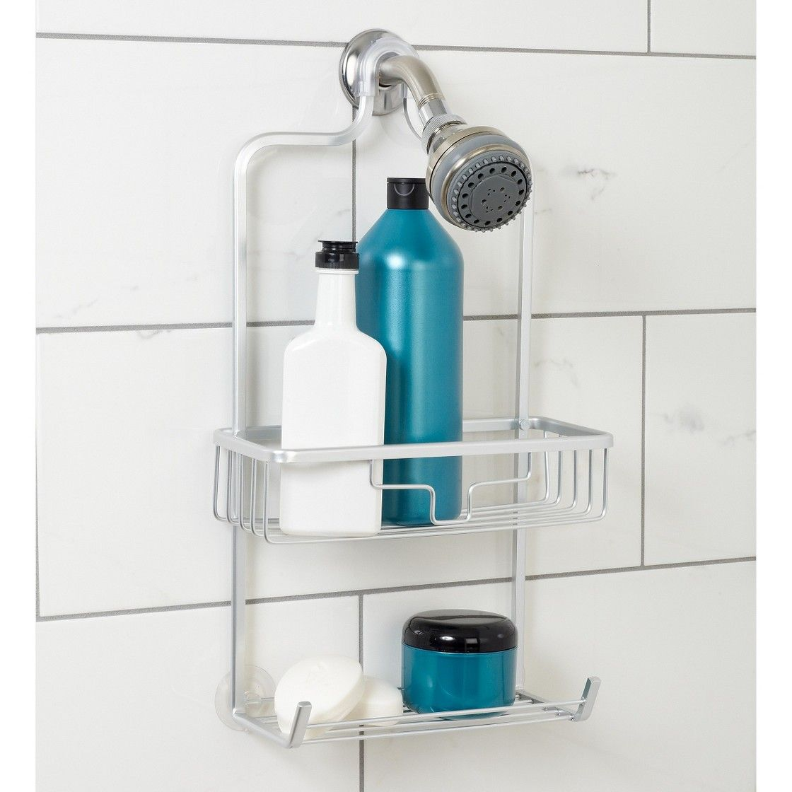 NeverRust Aluminum Shower Caddy Satin Medium Zenna Home
