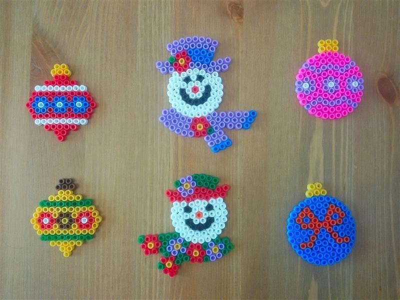 Lavoretti Di Natale Con Perline.Pyssla Hama Beads Natale Christmas Perler Hama Bead Crafts