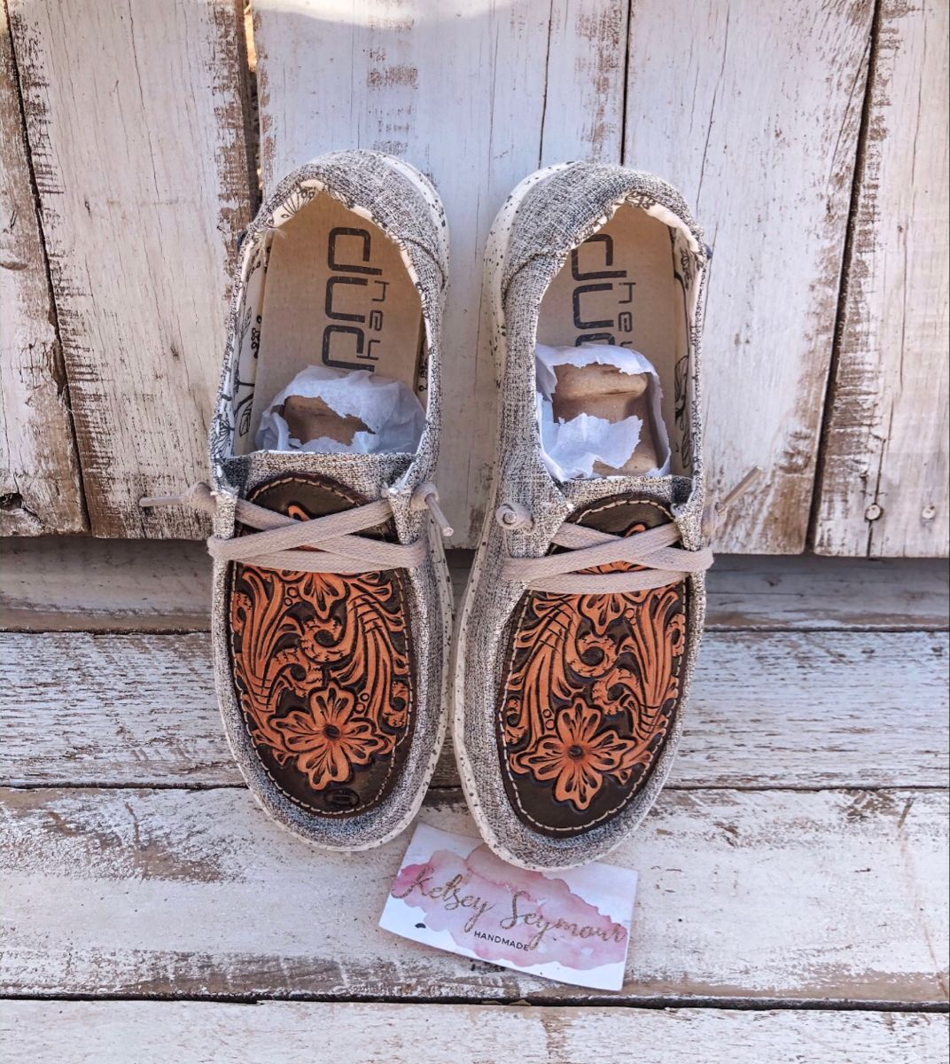 Tooled leather Hey Dude Shoes in 2020