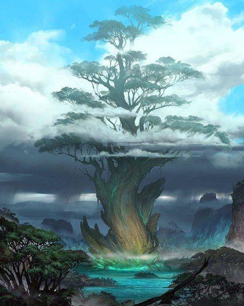 Фотография | Fantasy art landscapes, Fantasy landscape ...