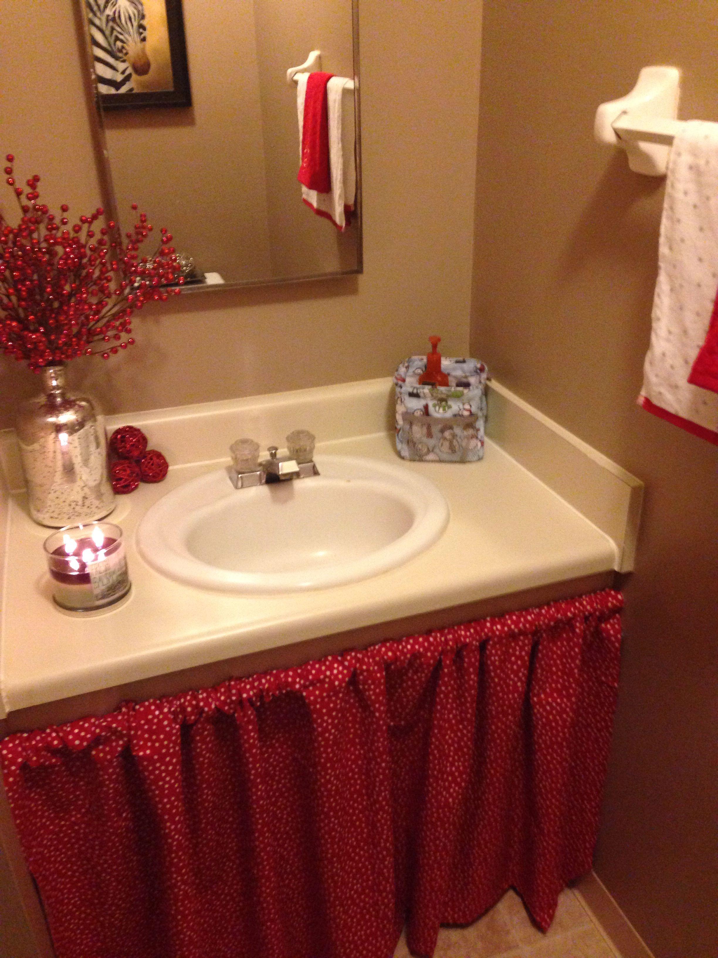 DIY: Bathroom sink skirt | Crafts and Ideas! | Pinterest ...