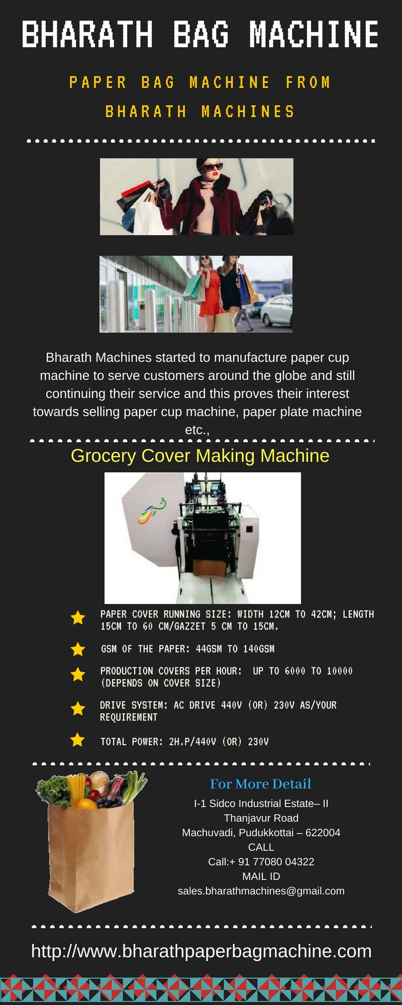 Bharath Machines started to manufacture paper cup machine to