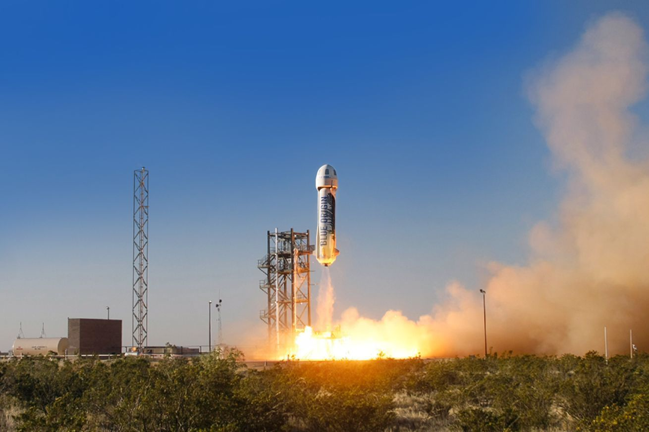 Blue Origin just launched and landed its suborbital rocket New Shepard — the same vehicle the company flew and then landed in November.  The booster reached a maximum altitude of 333,582 feet, or 63 miles, above the Earth's surface, before landing gently back at Blue Origin's test facility in