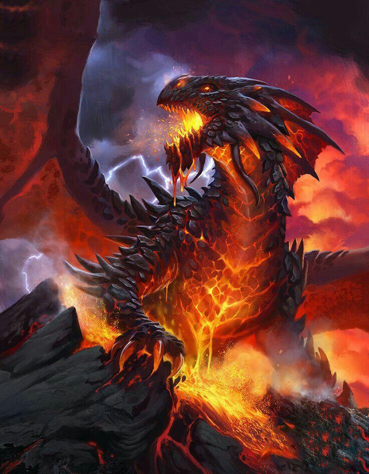 Драконы в огне картинки