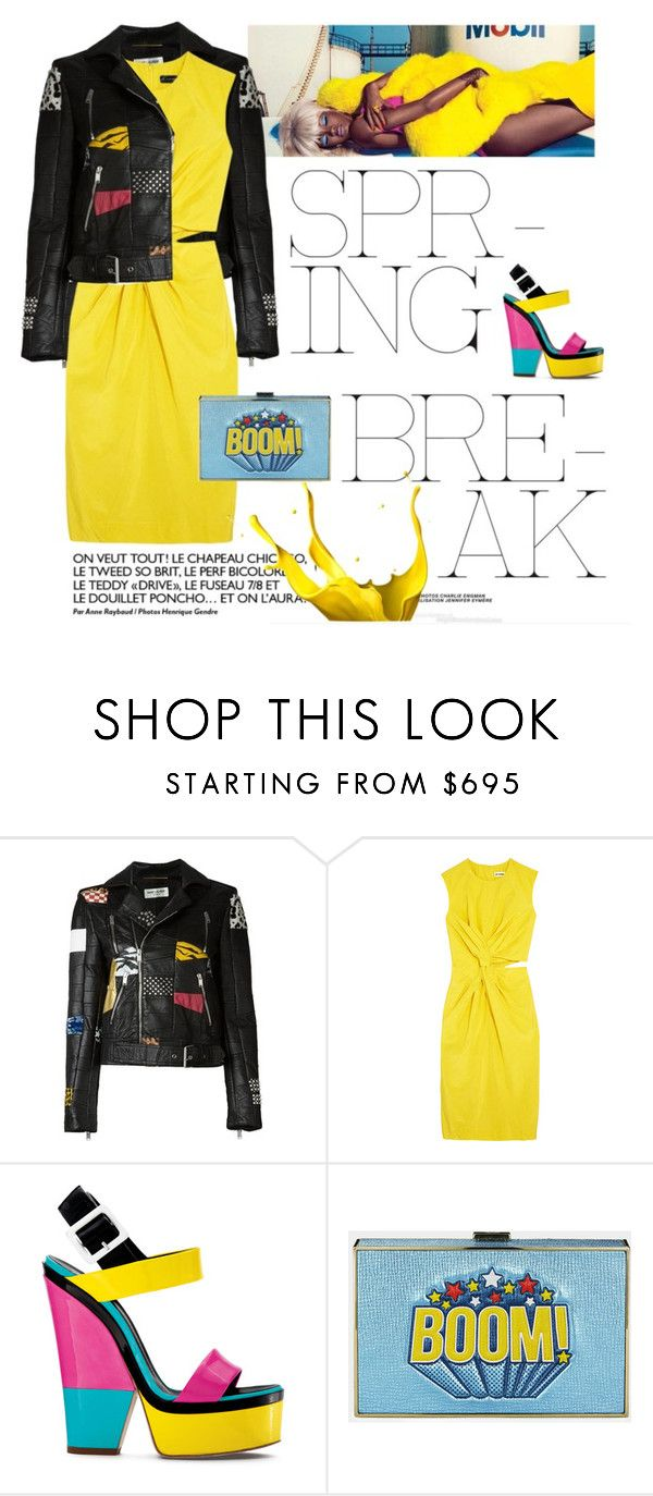 """Edgy"" by groove-muffin ❤ liked on Polyvore featuring Yves Saint Laurent, Jil Sander and Giuseppe Zanotti"