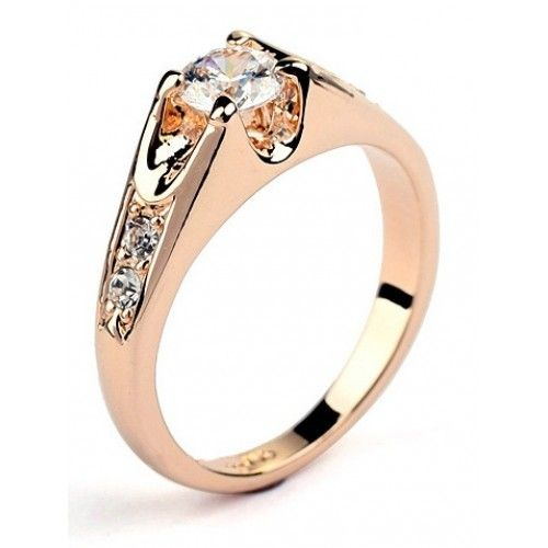 Buy 18k Gold Plated Crystal Ring online in Pakistan