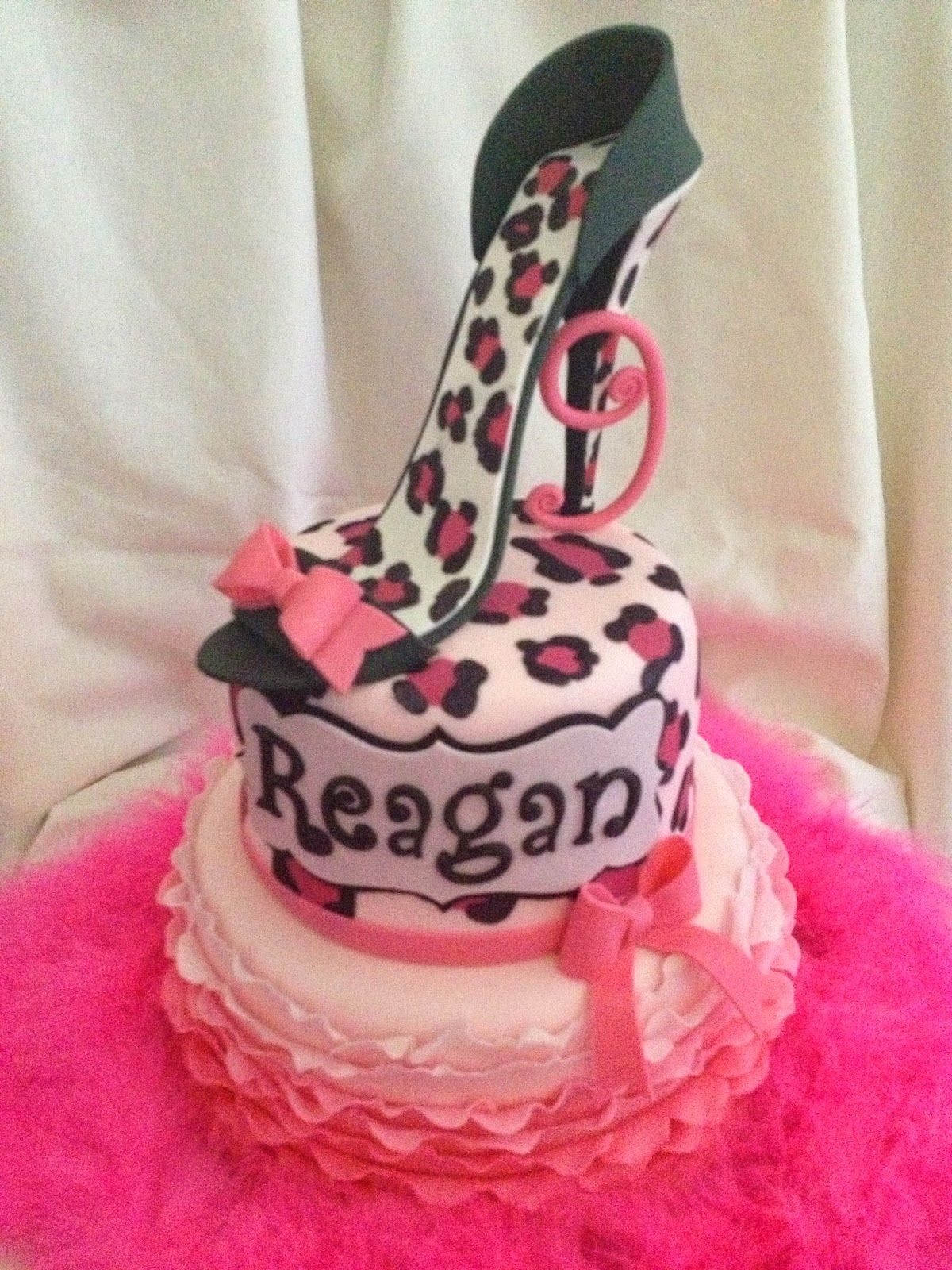 High Heel Cheetah Print Cake Sugar Love Cake Design Pinterest