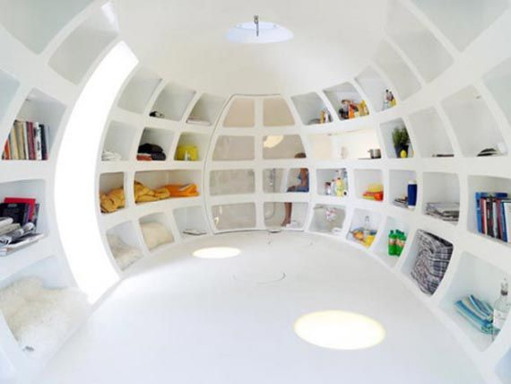 Small white egg house design! www.facebook.com/sofulifestyle ; www