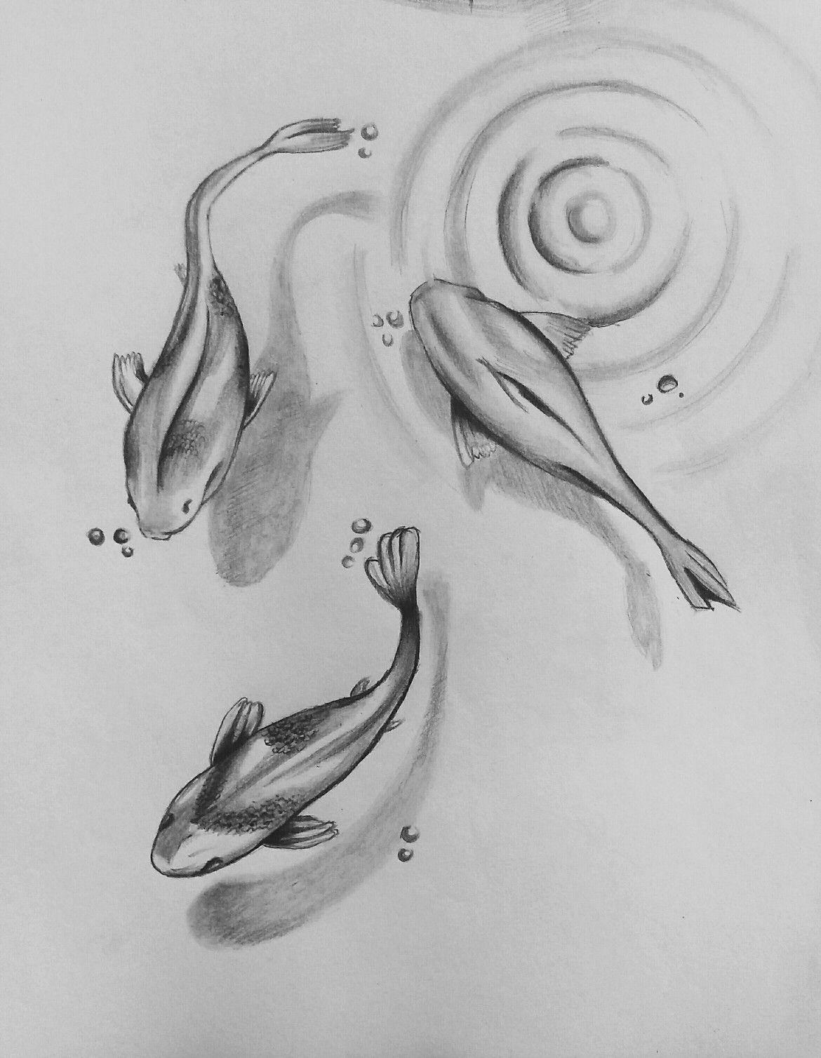 Fishes Pencil Drawing Xolgaix Pencil Drawings Easy Fish