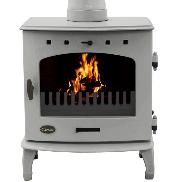 Carron 4.7kW Ash Grey Enamel Multifuel / Wood Burning Stove - Carron 4.7kW Ash Grey Enamel Multifuel / Wood Burning Stove