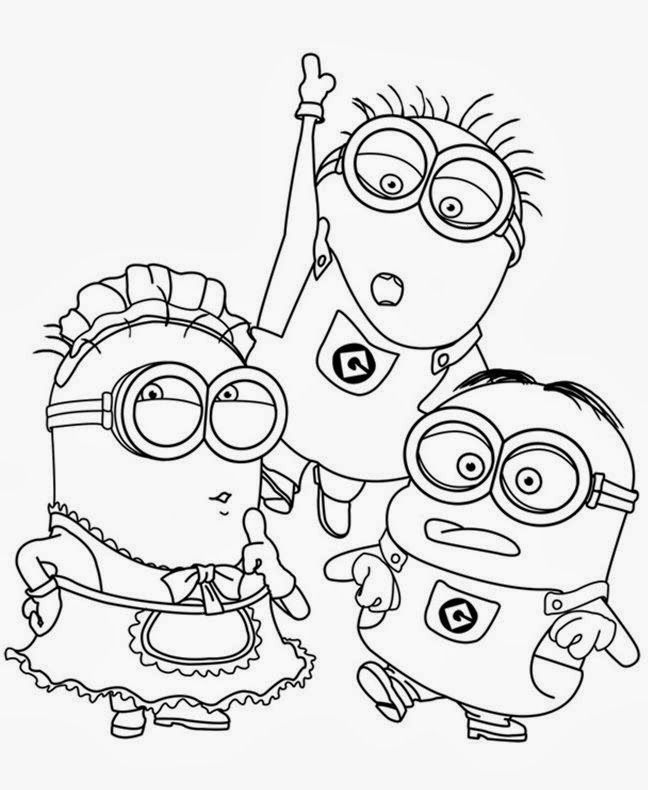 Coloring Book Minions : While you wait for the upcoming movie minions have fun coloring