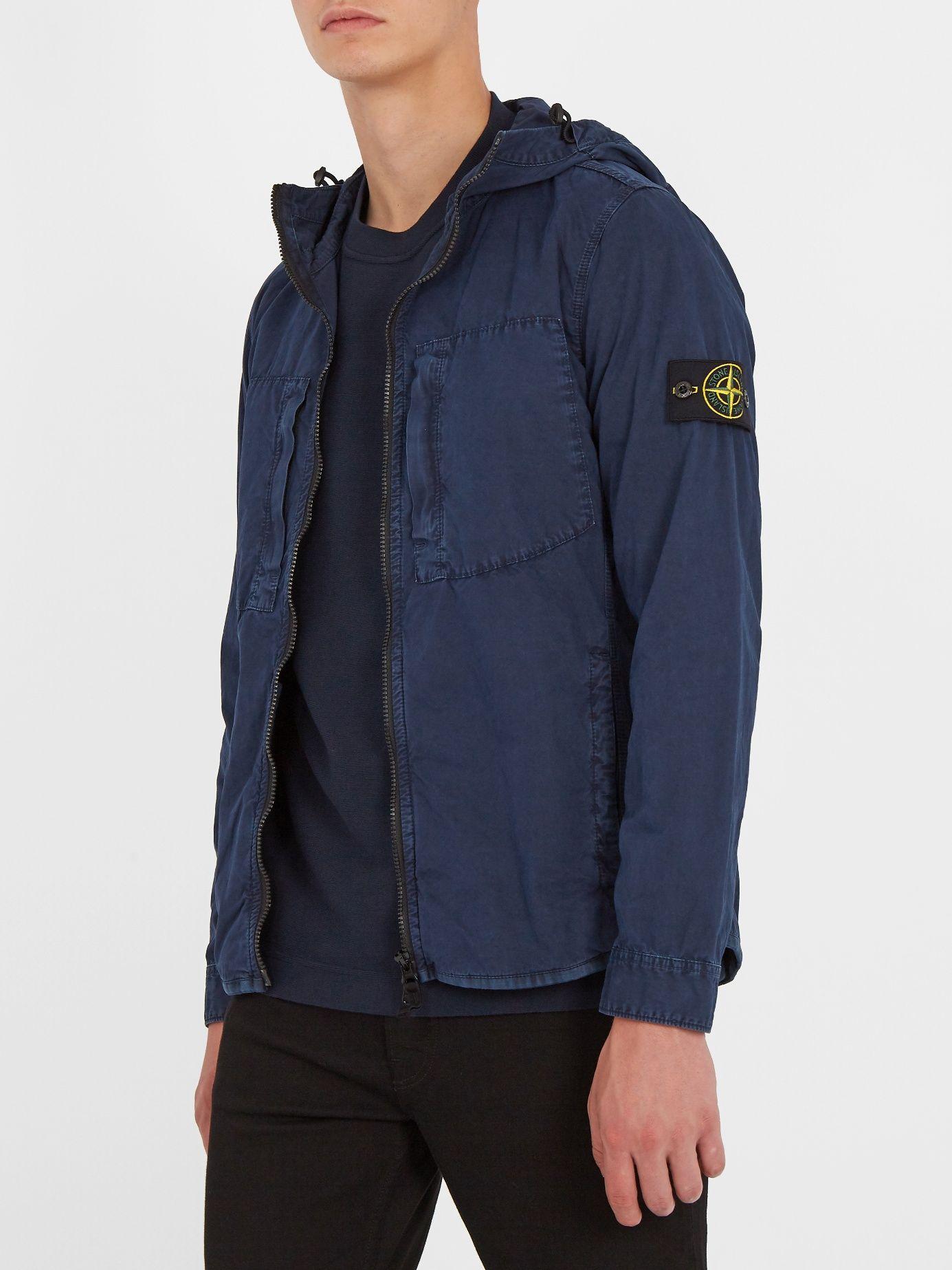 e76374465 Zip-through brushed-cotton jacket | Stone Island | MATCHESFASHION ...