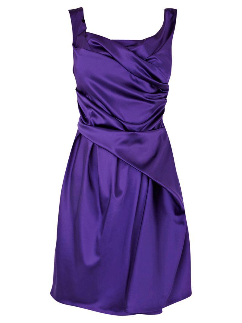 Coast Mylee Dress, Purple John Lewis | Colour - Deep Purple ...