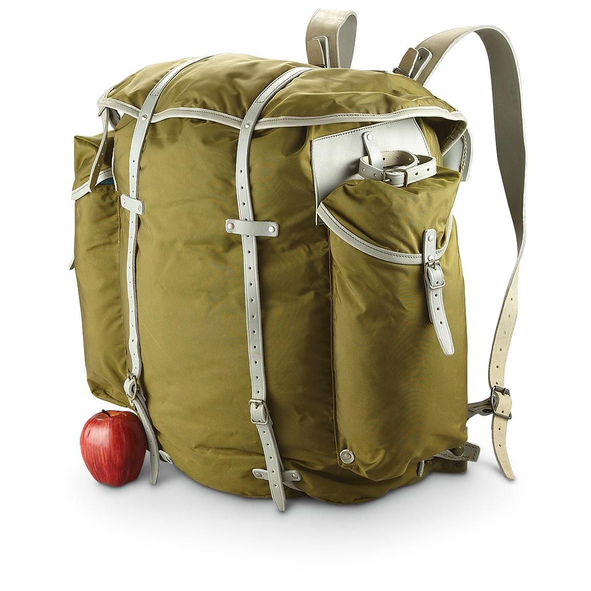 Canvas backpack Backpack of 50s Hunting backpack Vintage backpack Backpack for hiking Backpack Mountain backpack Green backpack