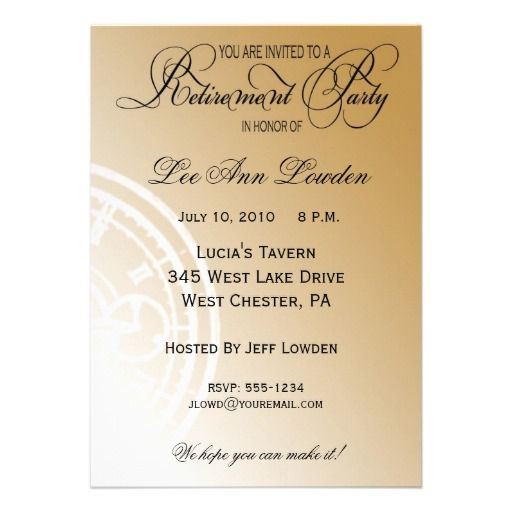 retirement dinner invitations