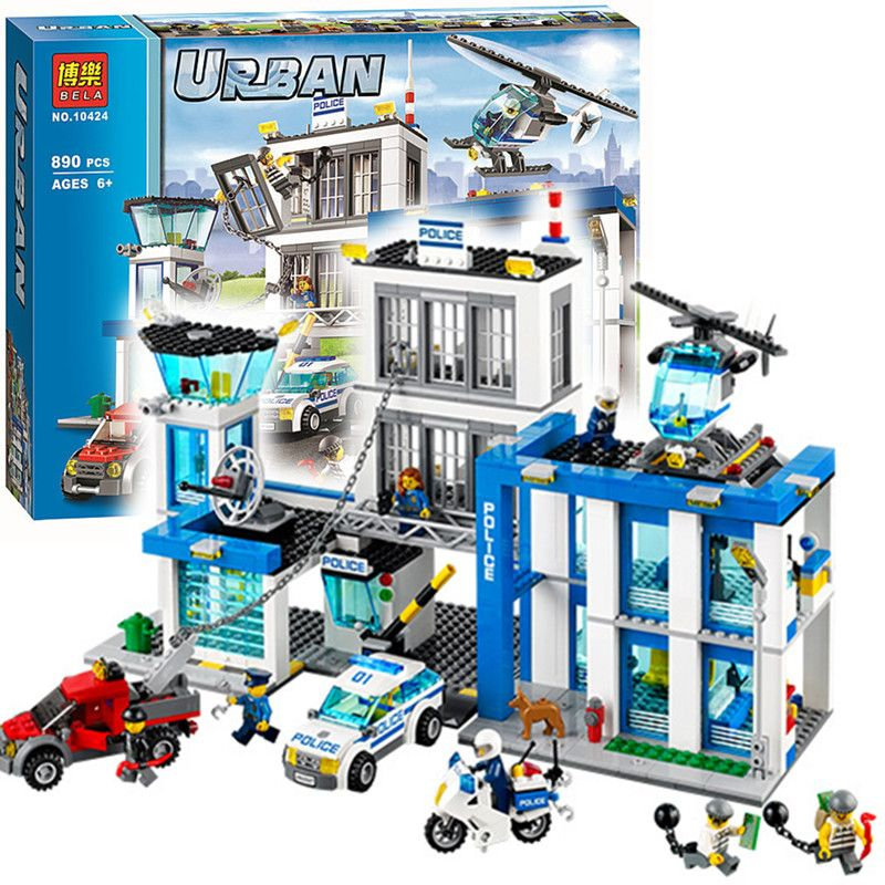 Compare Prices Bela 10424 City Police Station Motorbike Helicopter Model Building Kits Compatible Lego City Police Lego City Police Station
