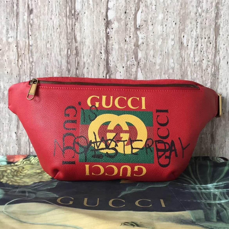 26cbd7f8a5b Gucci Leather Coco Capitan Vintage Logo Belt Bag 493869 Red 2017 ...
