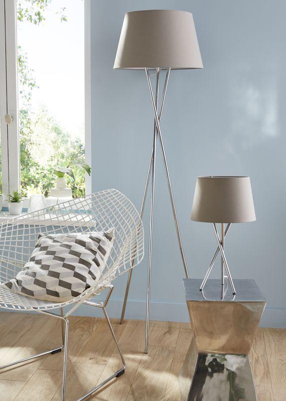Lot Lampe Et Lampadaire Colours Jake Beige Lampadaire Castorama Maison Art Deco