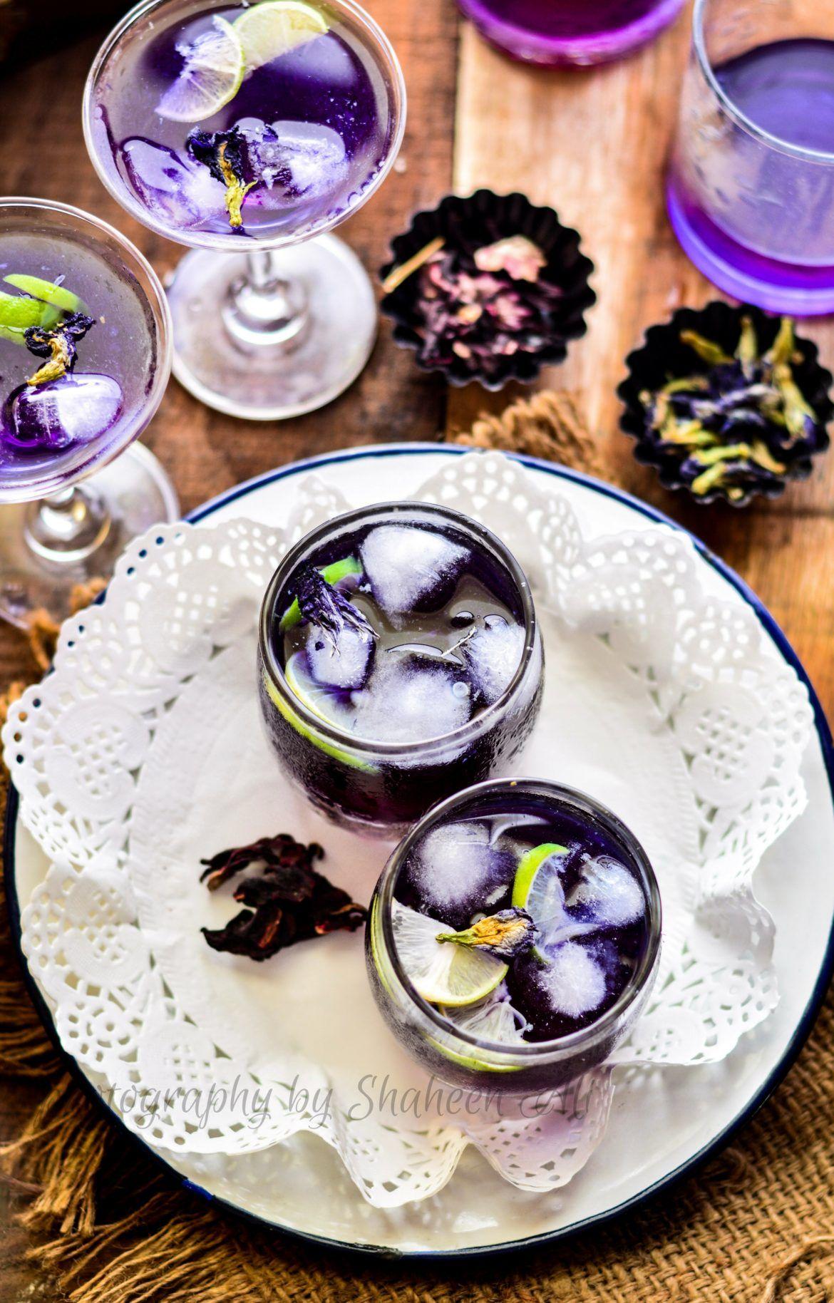 Butterfly pea flower tea lemonade best party