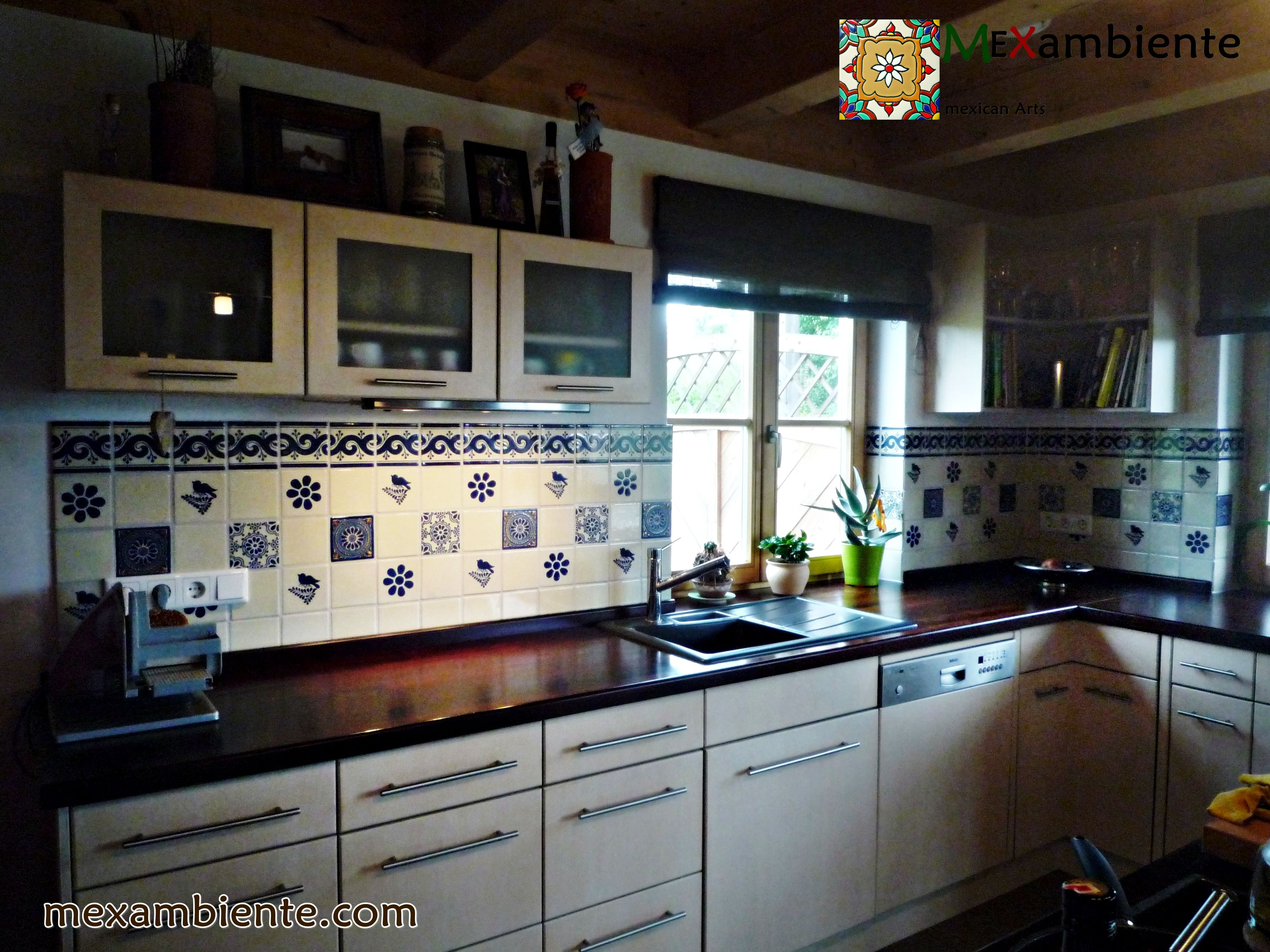 Küche - mexikanische handbemalte Fliesen - Kitchen mexican tiles www ...