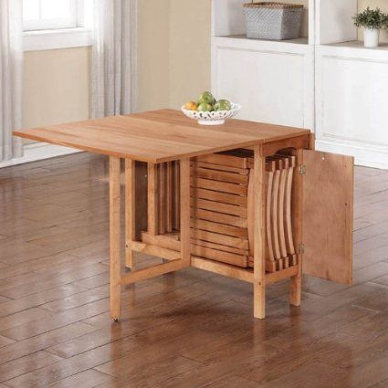 Linon Delany 5 Piece E Saver Folding Dining Set