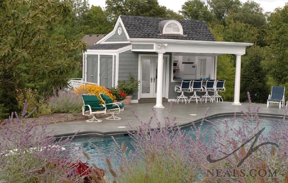 Nantucket Inspired Pool House Neals Design Remodel Pool House Shed Pool Houses Pool House
