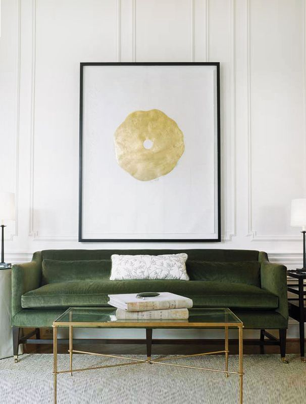 My Fall Palette Green Gold And Marble Thou Swell Green Sofa Green Velvet Sofa Couch Upholstery