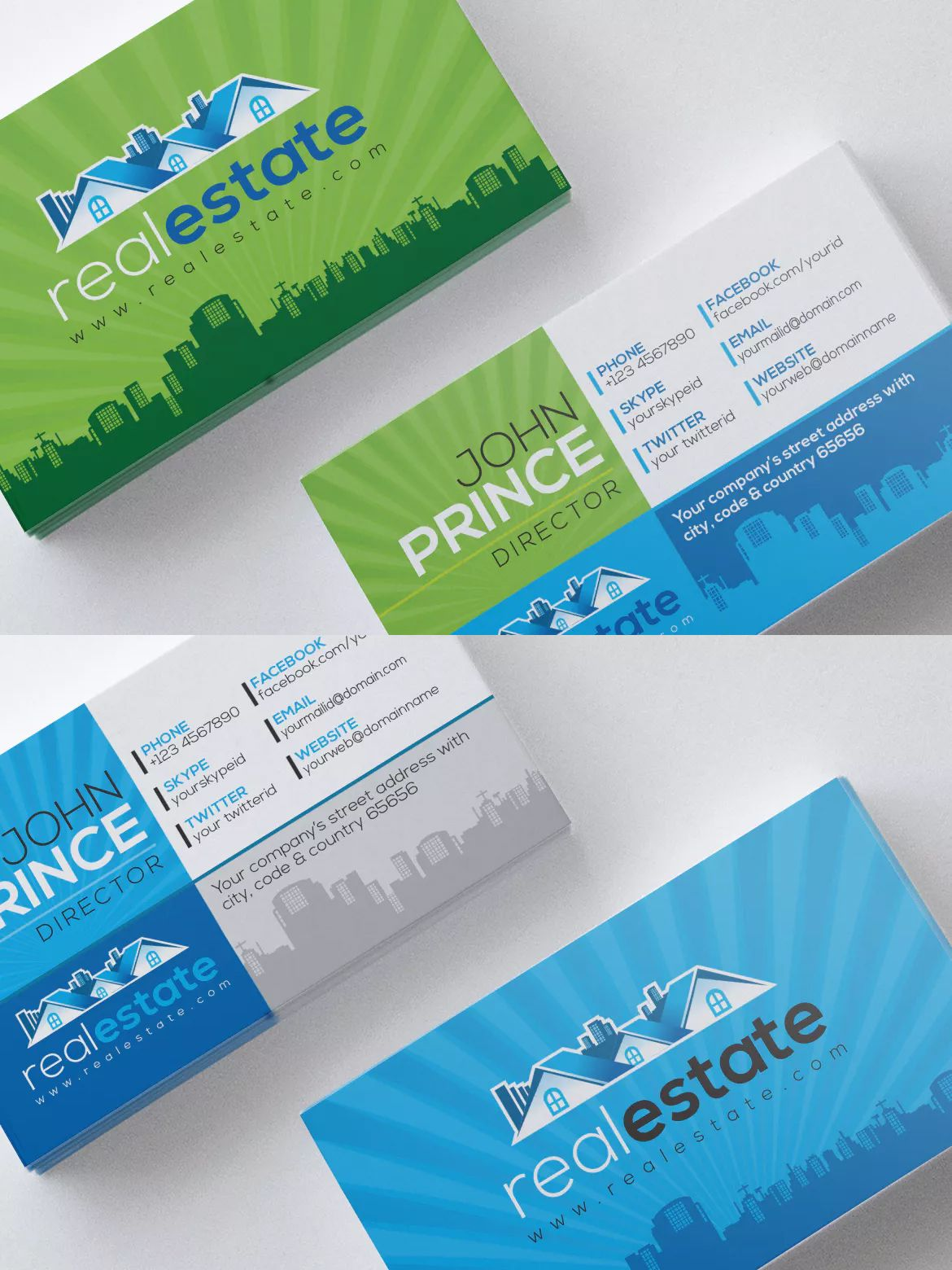 Real estate company corporate business card template eps business real estate company corporate business card template eps cheaphphosting Gallery
