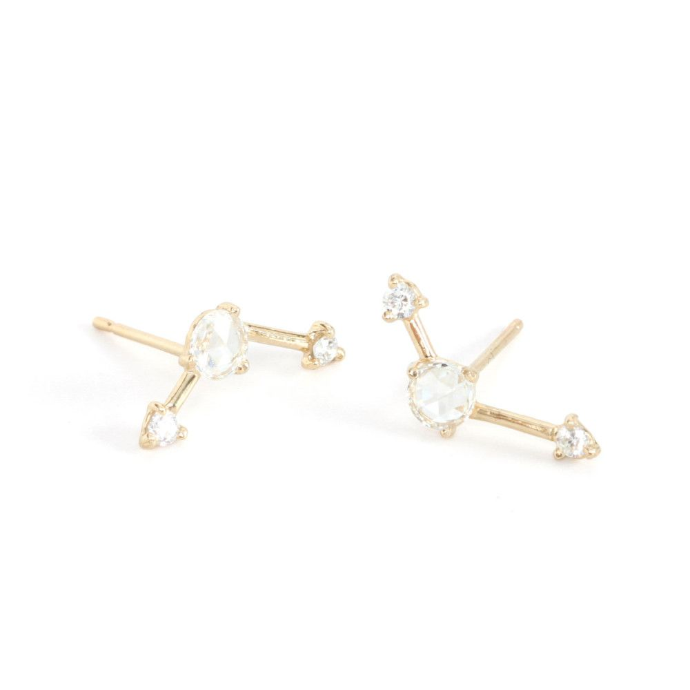 2a7485e347002 Catbird | Three Step Diamond Ballon Earrings by Wwake | A ...