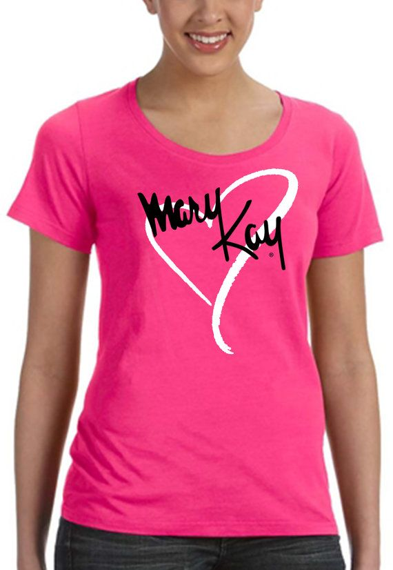 New Mary Kay Hot Pink On Black Tee Shirt SM