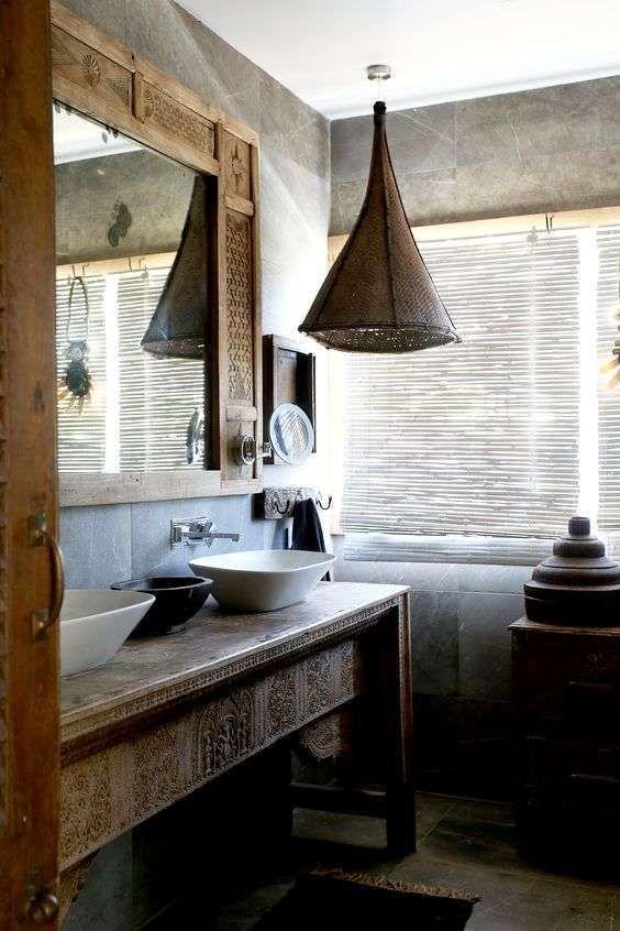 Mobili bagno in stile etnico - Arredare il bagno in stile etnico per ...