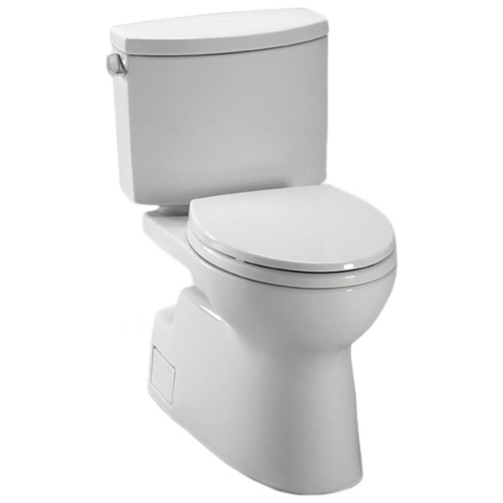 Toto CST474CEFG Vespin II Cotton White High-efficiency Toilet ...
